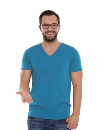 Comazo Lieblingswäsche Basic Shirt kurzarm für Herren in riviera