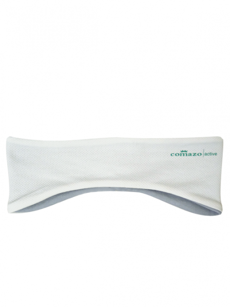 Comazo Funktionswäsche Stirnband für Damen in silver/offwhite - Vorderansicht