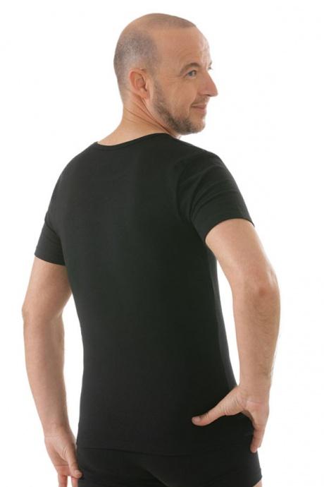 Comazo Unterwäsche, Kurzarm Shirt in schwarz - Rückansicht