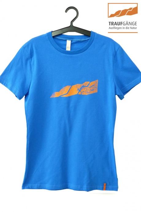 Comazo Biowäsche, Kurzarm Shirt für Damen in blau- Vorderansicht