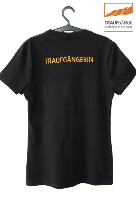 Comazo Biowäsche, Kurzarm Shirt für Damen in schwarz- Rückansicht
