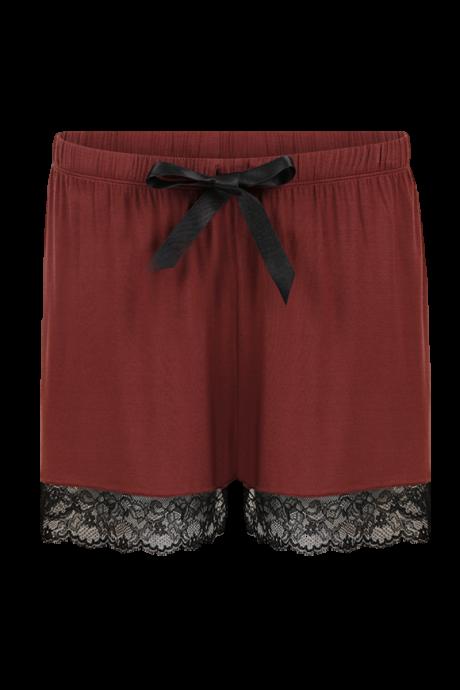 Comazo Lieblingswäsche Damen Unterwäsche Nachtwäsche Shorts in granatrot