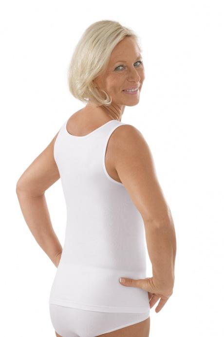 Comazo Unterwäsche, Unterhemd für Damen in weiss - Rückansicht