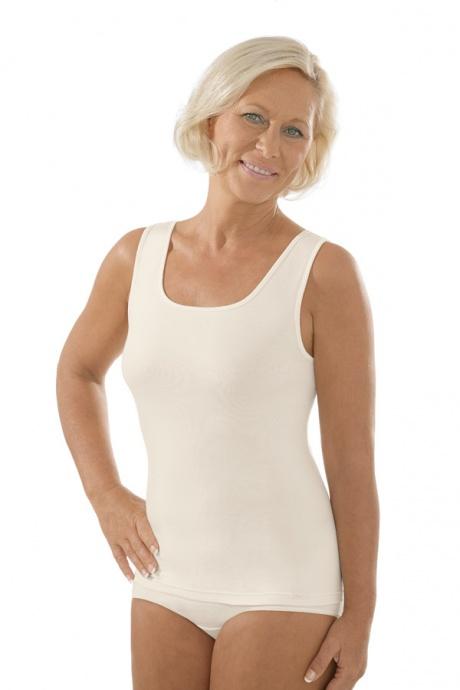 Comazo Unterwäsche, Unterhemd für Damen in elfenbein - Vorderansicht