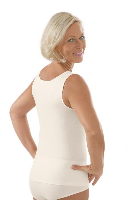 Comazo Unterwäsche, Unterhemd für Damen in elfenbein - Rückansicht