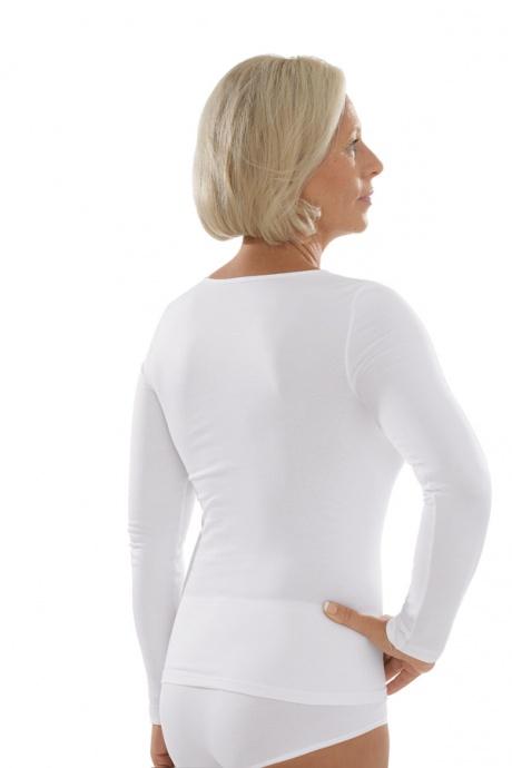 Comazo Unterwäsche, Langarm Shirt für Damen in weiss - Rückansicht