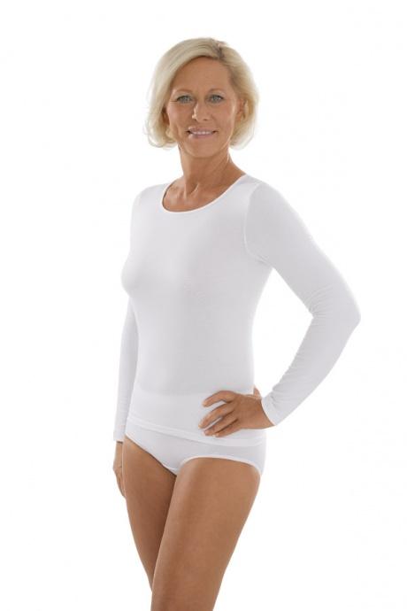Comazo Unterwäsche, Langarm Shirt für Damen in weiss - Gesamtansicht