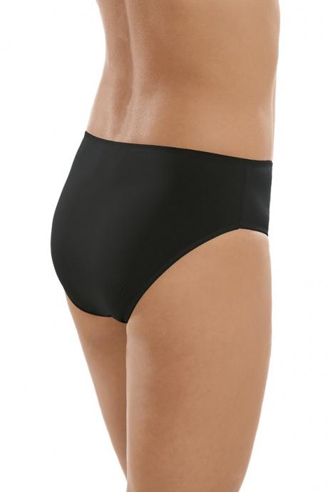 Comazo Unterwäsche, Midi-Slip für Damen in schwarz - Rückansicht