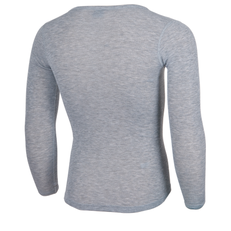 Funktionshirt grau langarm Rückseite