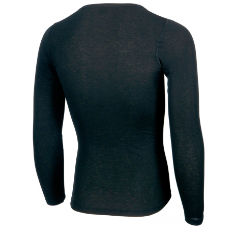 Funktionsshirt schwarz langarm Rückseite