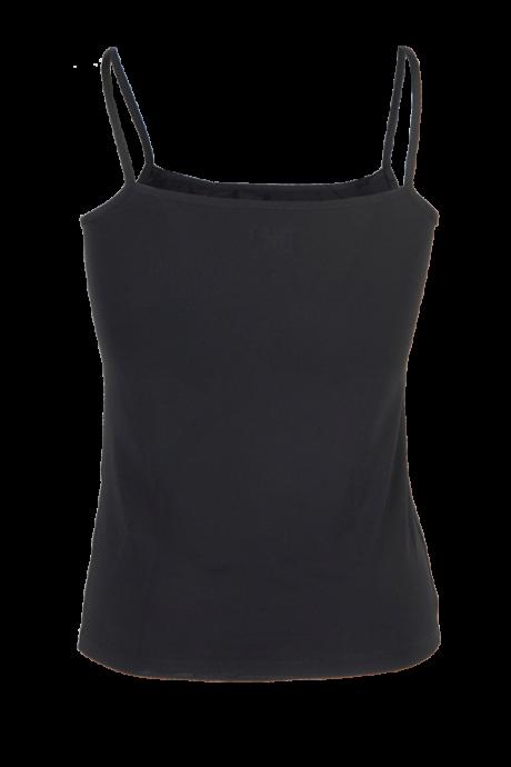 Comazo Lieblingswäsche Damen Unterhemd in schwarz