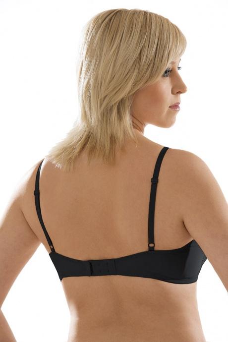 Comazo Unterwäsche, Spacer-BH für Damen in schwarz - Rückansicht