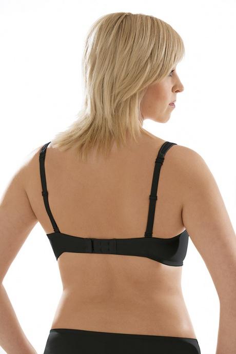 Comazo Unterwäsche, Neckholder-BH für Damen in schwarz - Rückansicht