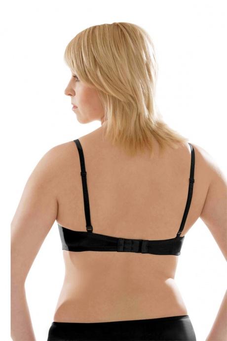 Comazo Unterwäsche, Balconette-BH für Damen in schwarz- Rückansicht