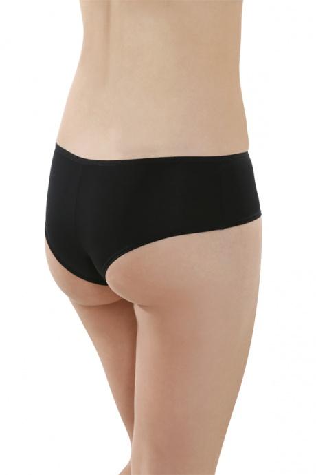 Comazo Unterwäsche, Brasilian-Slip für Damen in schwarz- Rückansicht