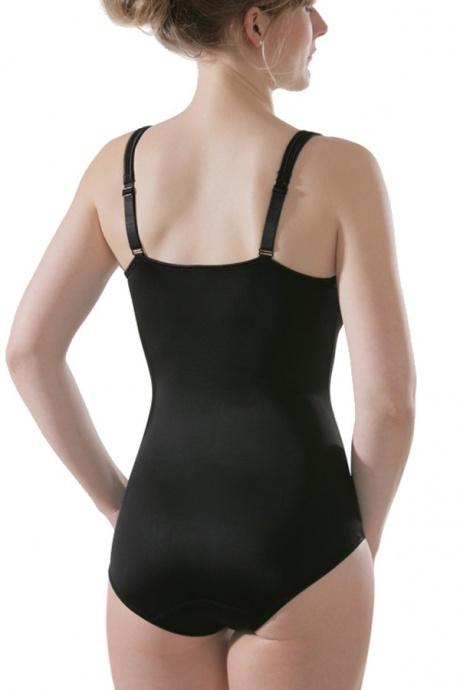 Comazo Shapewear, Miederbody für Damen, schwarz - Rückansicht
