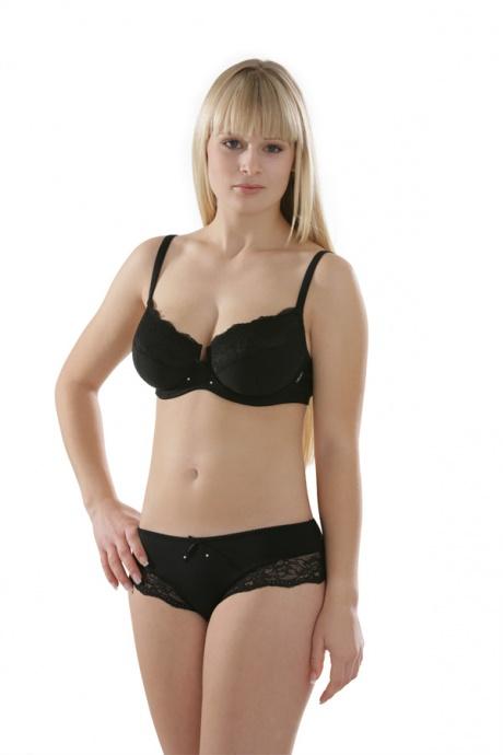 Comazo Unterwäsche, Bügel-BH für Damen in schwarz- Gesamtansicht