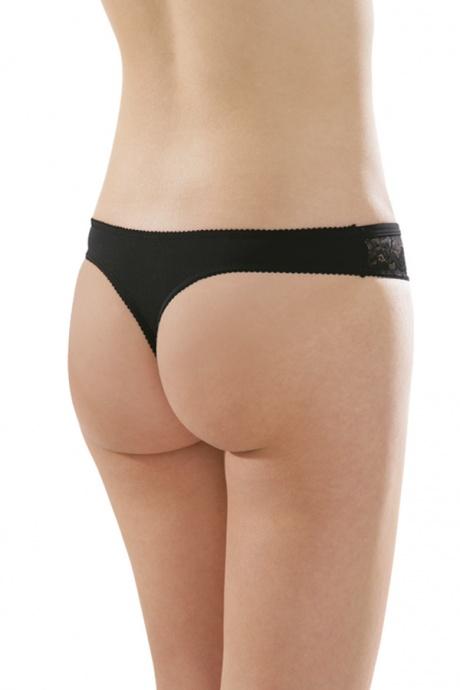 Comazo Unterwäsche, String für Damen in schwarz - Rückansichtt