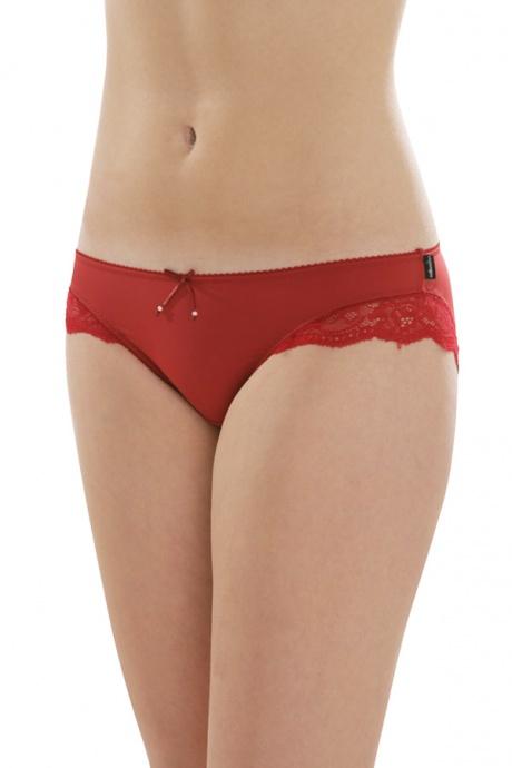 Comazo Unterwäsche, Jazz-Pants für Damen in rot - Vorderansicht