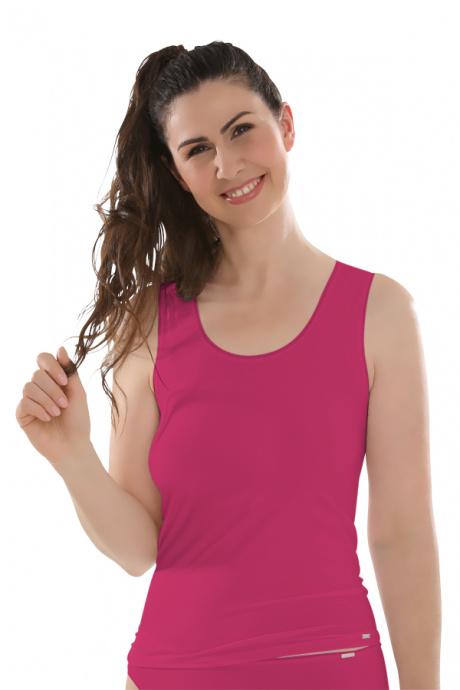 Comazo Lieblingswäsche Unterhemd mit Achselträgern für Damen in lipstick
