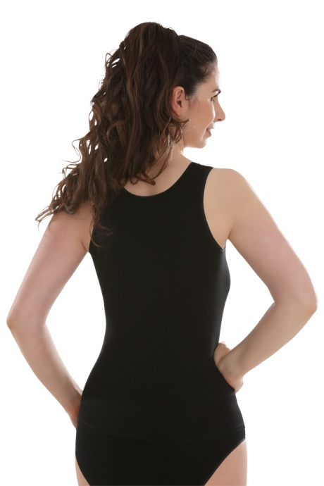 Unterhemd Achselträger, schwarz Rückansicht