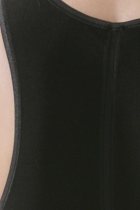 Comazo Unterwäsche, Unterhemd für Damen in schwarz - Detailansicht