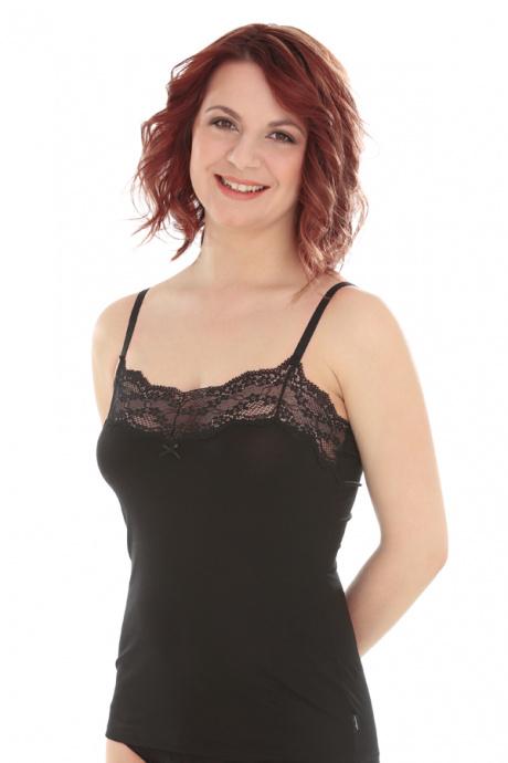 Comazo Lieblingswäsche, Unterhemd für Damen in schwarz