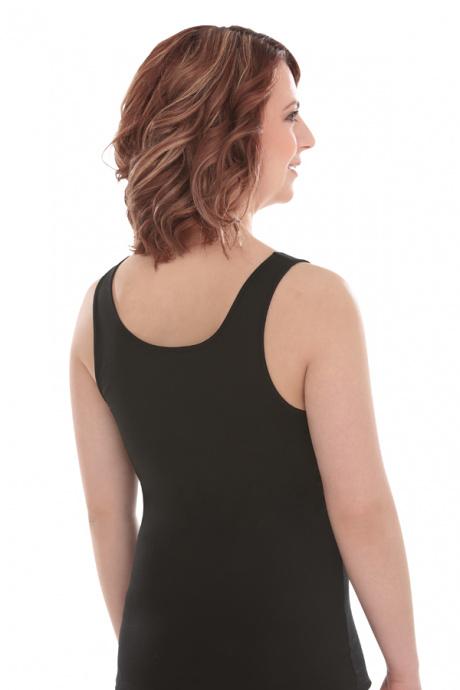 Comazo Lieblingswäsche, Unterhemd Achselträger für Damen in schwarz