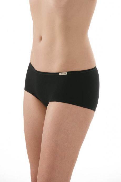 Comazo Biowäsche, Panty für Damen in schwarz - Vorderansicht