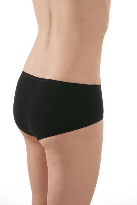 Comazo Biowäsche, Panty für Damen in schwarz - Rückansicht