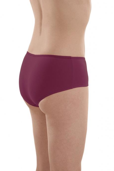 Comazo Biowäsche, Panty für Damen in brombeer - Rückansicht