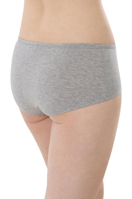 Comazo Biowäsche, Panty für Damen in grau-melange - Rückansicht