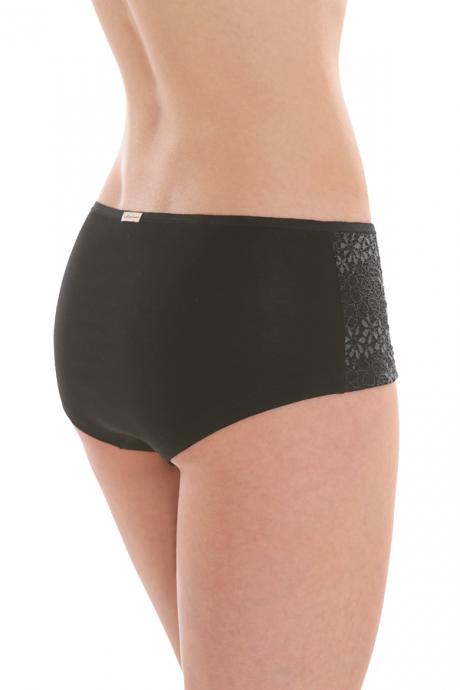 Comazo Biowäsche, Panty mit Spitze für Damen in schwarz