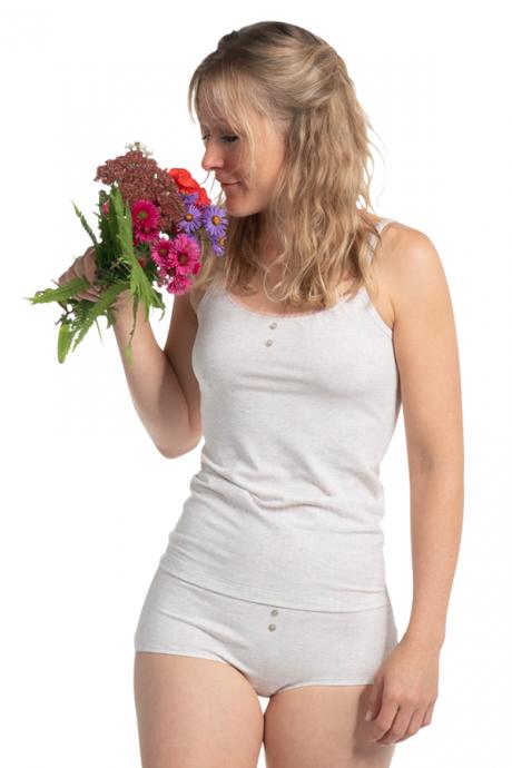 Comazo Biowäsche Damen Panty in perle gestreift