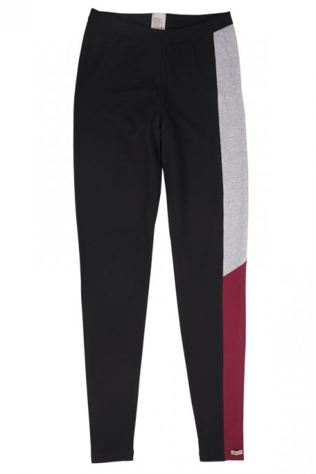 Comazo Biowäsche Damen Leggings Yoga in farbteiler