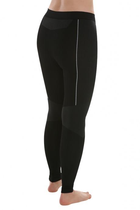 Comazo Funktionswäsche, Lange Unterhose für Damen in schwarz/anthrazit  - Rückansicht