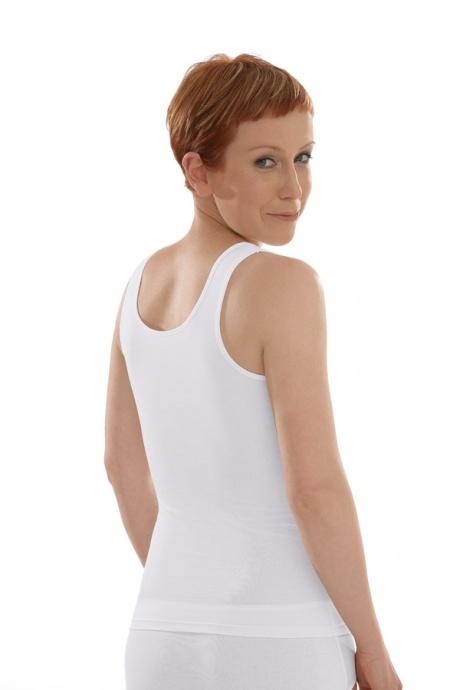 Comazo Biowäsche Unterhemd Achselträger für Damen in weiss - Rückansicht