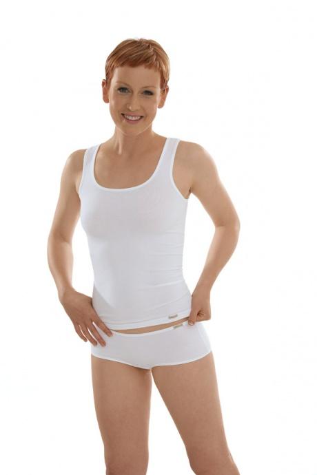 Comazo Biowäsche Unterhemd Achselträger für Damen in weiss - Gesamtansicht