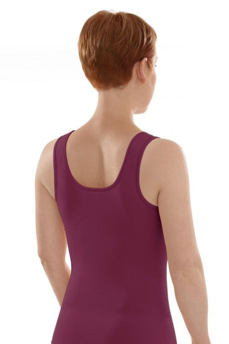 Comazo Biowäsche, Unterhemd für Damen in brombeer - Rückansicht