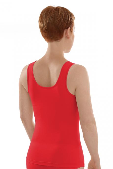 Comazo Biowäsche Damen Unterhemd Achselträger in apfelrot
