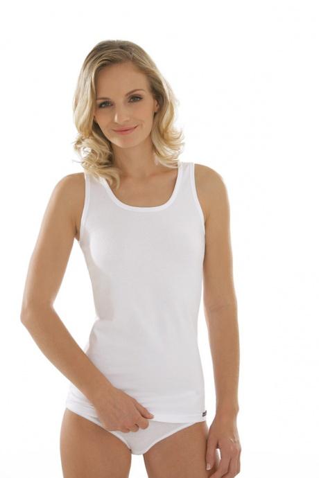 Comazo Unterwäsche, Unterhemd für Damen in weiss - Vorderansicht