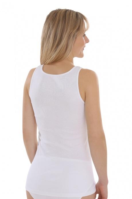 Comazo Biowäsche, Unterhemd für Damen in weiss