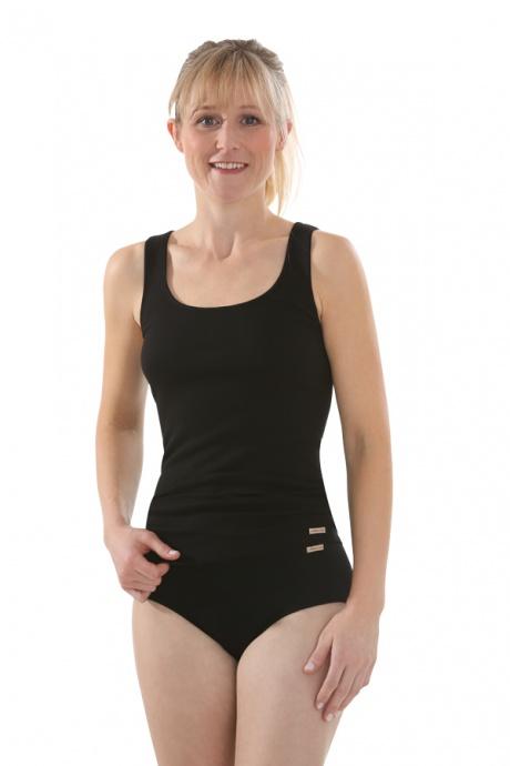 Comazo Biowäsche, Unterhemd Achselträger für Damen in schwarz