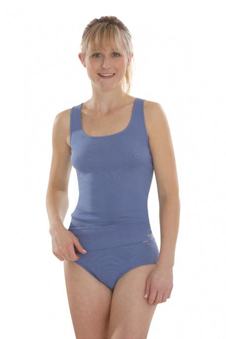 Comazo Biowäsche, Unterhemd Achselträger für Damen in jeansblau