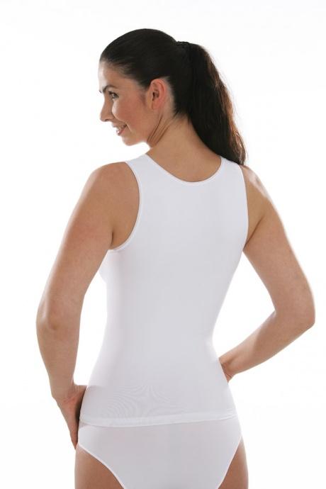 Comazo Funktionswäsche, Seamless Unterhemd für Damen in weiss - Rückansicht