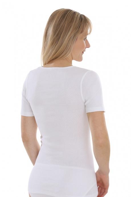 Comazo Biowäsche, kurzarm Shirt für Damen in weiss