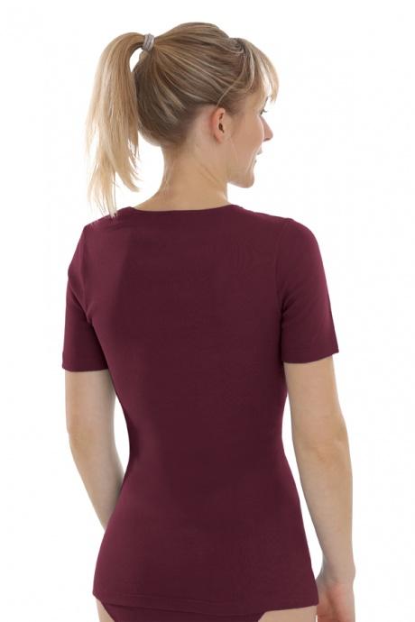Comazo Biowäsche, kurzarm Shirt für Damen in burgund