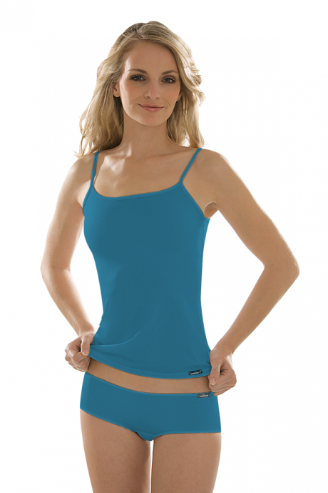 Comazo Unterwäsche, Spaghettiträger-Hemd für Damen in denimblue
