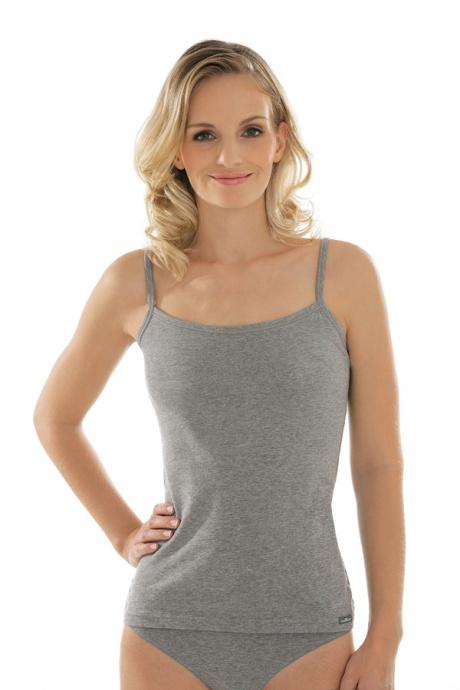 Comazo Unterwäsche Spaghettiträger-Hemd für Damen in grau-melange-Vorderansicht