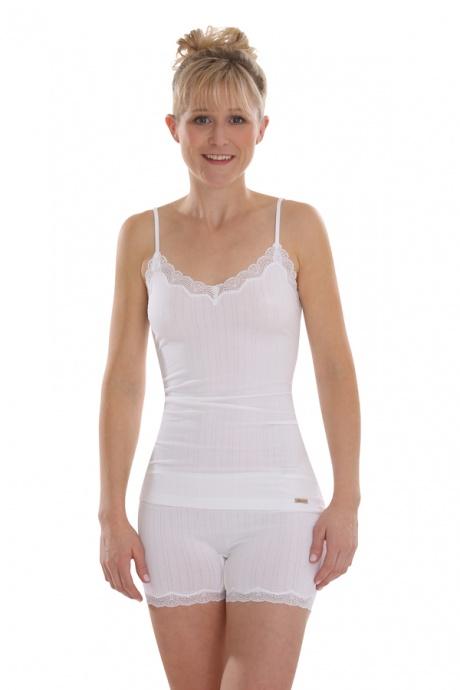 Comazo Biowäsche, Unterhemd Spaghettiträger für Damen in weiss